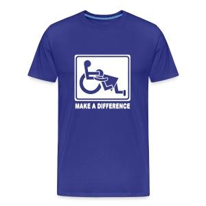Make a Difference (blue/white) - Men's Premium T-Shirt