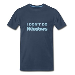 I Don't Do Windows (navy) - Men's Premium T-Shirt
