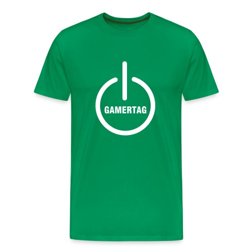 Men's Premium T-Shirt - Share your Gamertag loud and proud.