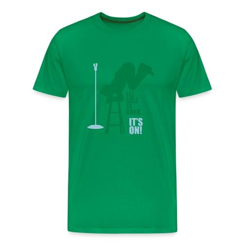 Dane logo It's on! SS Green - Men's Premium T-Shirt