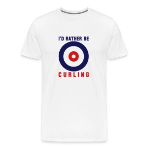 I'd Rather Be Curling (white) - Men's Premium T-Shirt