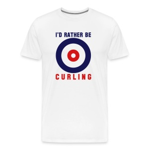 I'd Rather Be Curling (XXXL) - Men's Premium T-Shirt