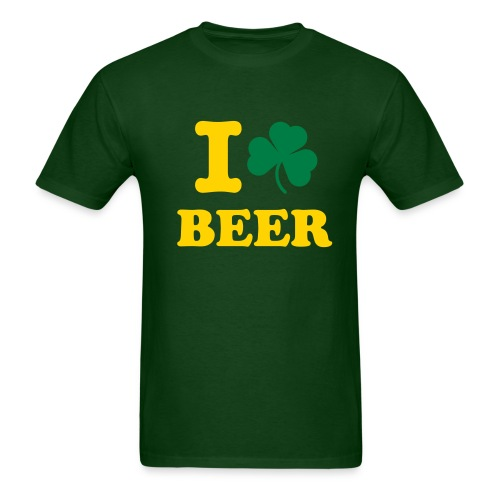I Shamrock Beer (Green) - Men's T-Shirt