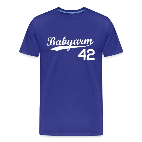 Men's Babyarm Royal Blue - Men's Premium T-Shirt