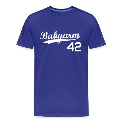 Men's Babyarm Royal Blue - Men's Premium T-Shirt