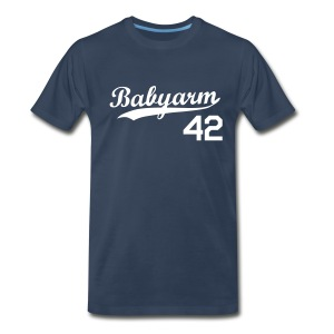 Men's Babyarm Navy - Men's Premium T-Shirt
