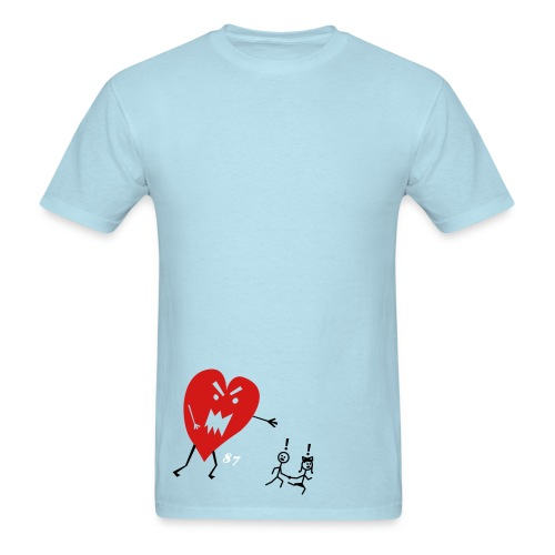 heart monster - Men's T-Shirt