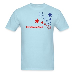 twobarefeet red white and blue - Men's T-Shirt