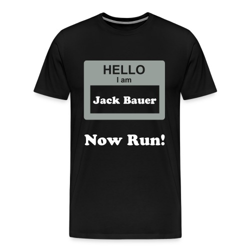 Jack Bauer, Now run! - Men's Premium T-Shirt