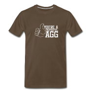 T-Shirts ~ Men's Premium T-Shirt ~ Men's LHT Brown F'AGG