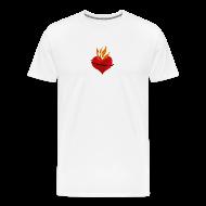 T-Shirts ~ Men's Premium T-Shirt ~ Sacred Heart of Jesus (mens)