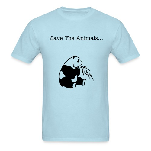 Save The Animals....For Dinner - Men's T-Shirt