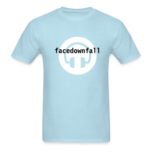 Facedownfall headphones - Men's T-Shirt