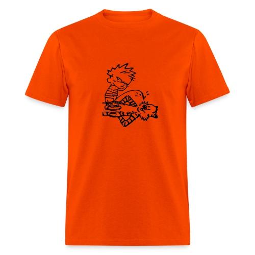 Calvin & Hobbes: Golden Showers (orange) - Men's T-Shirt