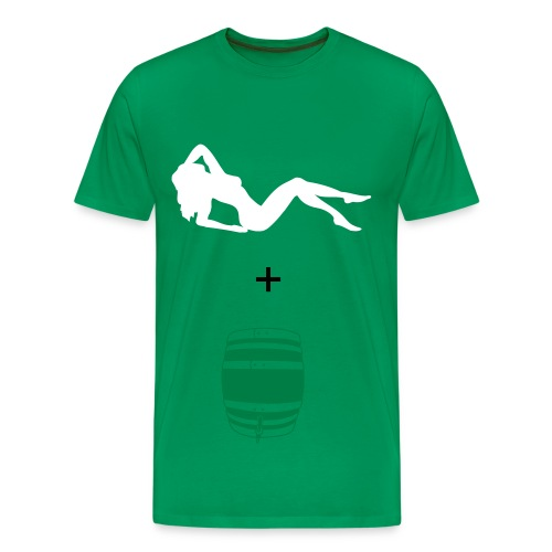 naked women and cold beer - Men's Premium T-Shirt