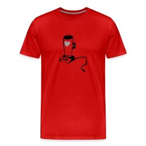 heart in a blender - Men's Premium T-Shirt