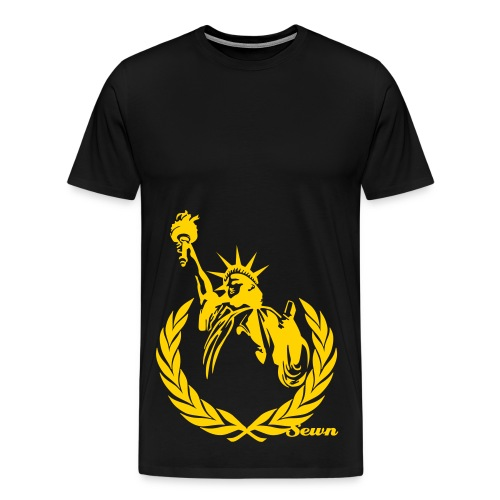 Lady Liberty by Sewn Designs. - Men's Premium T-Shirt
