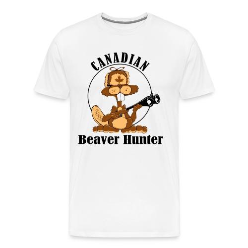 Canadian Beaver Hunter - Men's Premium T-Shirt