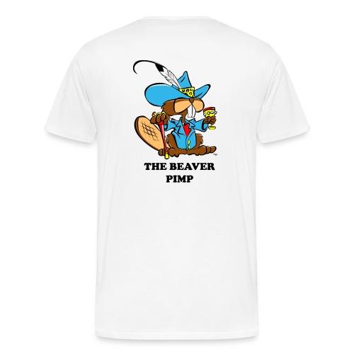 Beaver Pimp on Back - Men's Premium T-Shirt