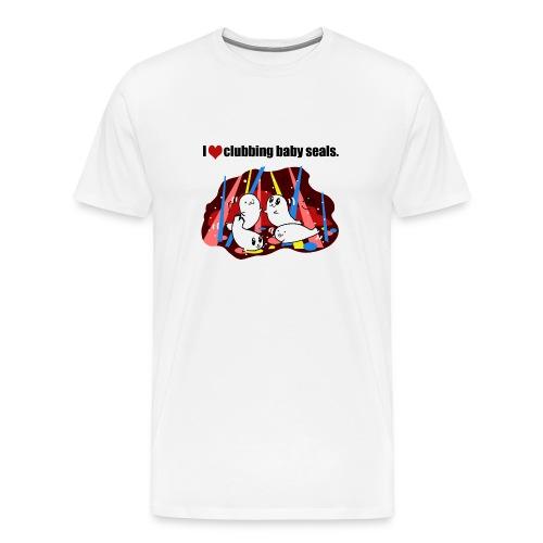I Love Clubbing Seals - Men's Premium T-Shirt
