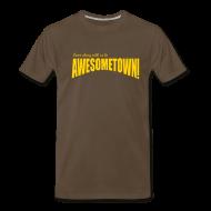 T-Shirts ~ Men's Premium T-Shirt ~ Brown AwesomeTown