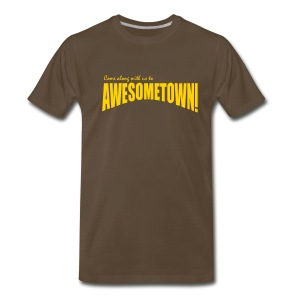 Brown AwesomeTown - Men's Premium T-Shirt