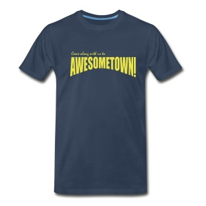 Navy A-Town - Men's Premium T-Shirt