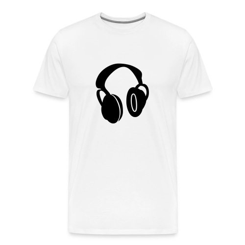 headphones - Men's Premium T-Shirt