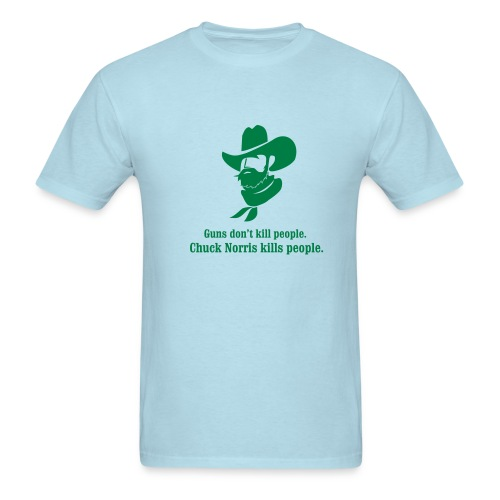 Guns Don't Kill People...Chuck Norris Kills People - Men's T-Shirt