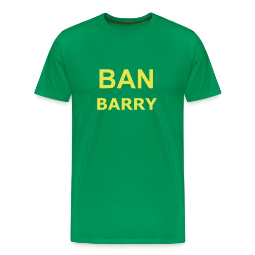Ban Barry - Bright Green & Yellow - Men's Premium T-Shirt