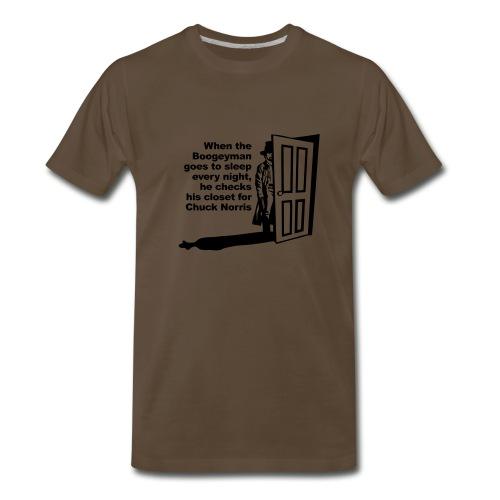 When the Boogeyman goes to sleep at night he checks his closet for Chuck Norris - Men's Premium T-Shirt