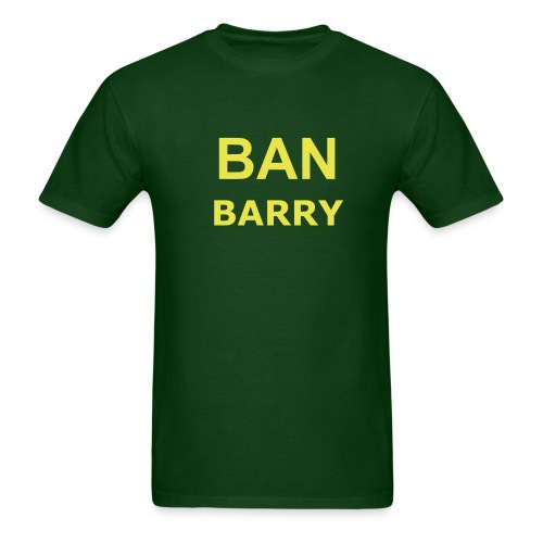 Ban Barry - Dark Green & Yellow - Men's T-Shirt