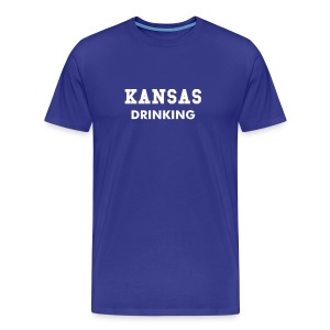 Kansas Drinking - Men's Premium T-Shirt