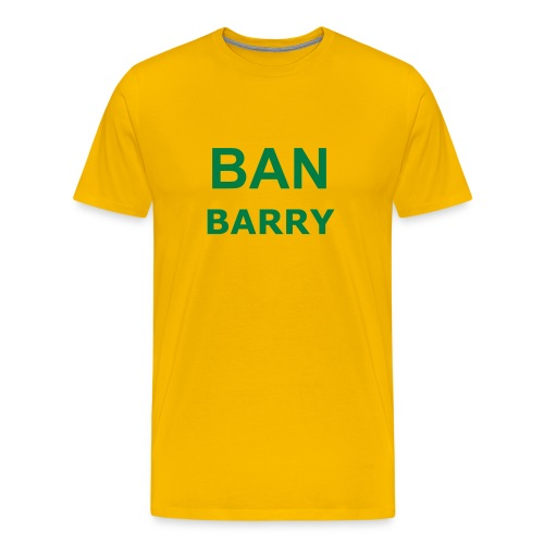 Ban Barry - Bright Yellow & Green - Men's Premium T-Shirt