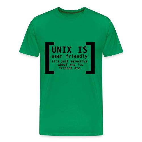UNIX IS - Men's Premium T-Shirt