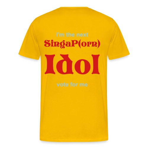 Men's SingaP(orn) Idol T-shirt (Yellow) - Men's Premium T-Shirt