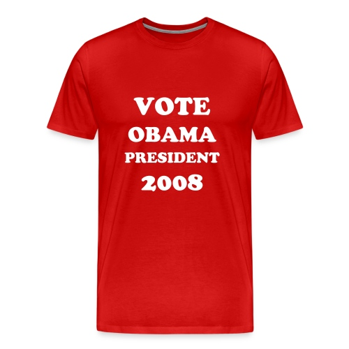 VOTE BARACK OBAMA PRESIDENT TE SHIRT - Men's Premium T-Shirt