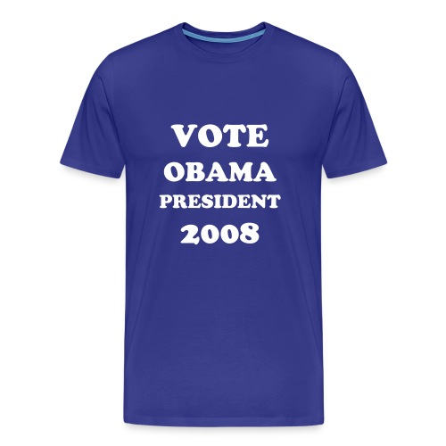 BARACK OBAMA FOR PRESIDENT 2008 T SHIRT - Men's Premium T-Shirt