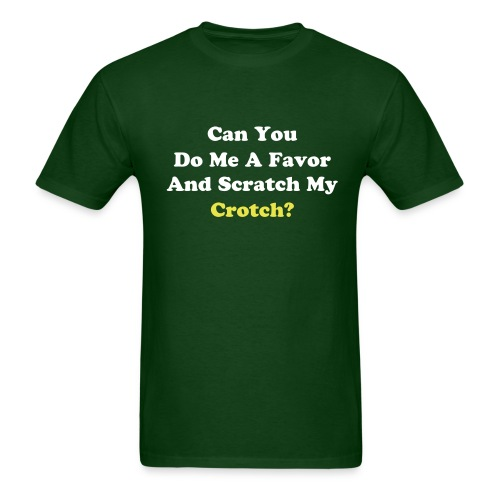 Crotch Shirt (Green) - Men's T-Shirt