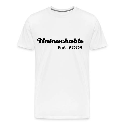 Untouchable XXXL T-Shirt (White) - Men's Premium T-Shirt