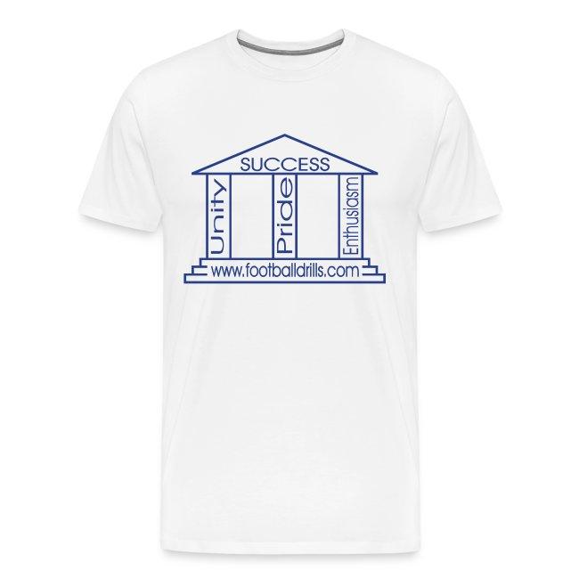 Pillars of Success (blue on white)