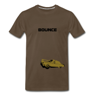 T-Shirts ~ Men's Premium T-Shirt ~ BOUNCE  (metallic gold print)