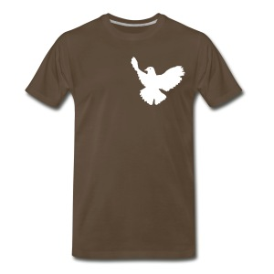 Dove Tee Chocolate (Mens) - Men's Premium T-Shirt
