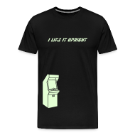 T-Shirts ~ Men's Premium T-Shirt ~ I LIKE IT UPRIGHT (glow-in-the-dark print)