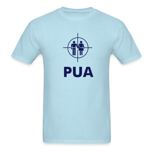 PUA Crosshairs Lt Blue - Men's T-Shirt