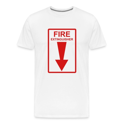 Fire Extinguisher White - Men's Premium T-Shirt