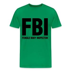 FBI Green - Men's Premium T-Shirt