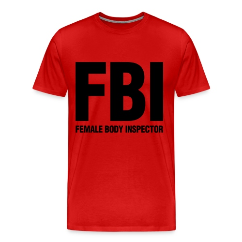 FBI Red - Men's Premium T-Shirt