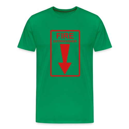 Fire Extinguisher Green - Men's Premium T-Shirt