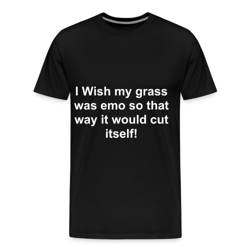 Emo Grass-Black - Men's Premium T-Shirt